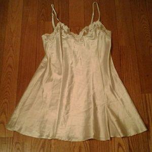Vintage Victoria Secret Ivory Cami Nightgown Slip